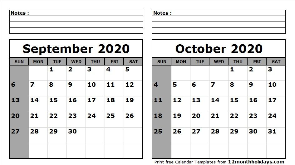 Calendar Sept 2020.September October 2020 Calendar Printable 2018 Calendar 2021