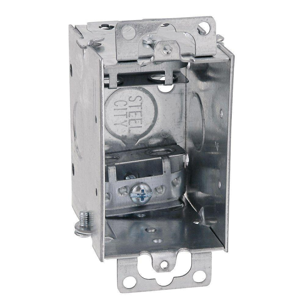 Steel City 1 Gang 3 In X 2 In Old Work Metal Electrical Switch Box Case Of 25 Electrical Switches Steel Home Depot