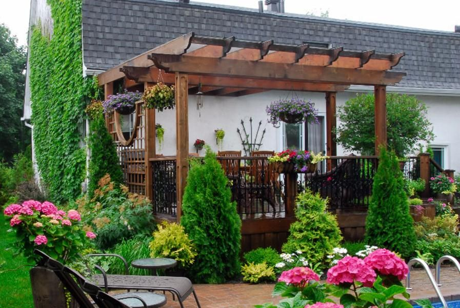 am nagement paysager terrasse ext rieure exterieur. Black Bedroom Furniture Sets. Home Design Ideas