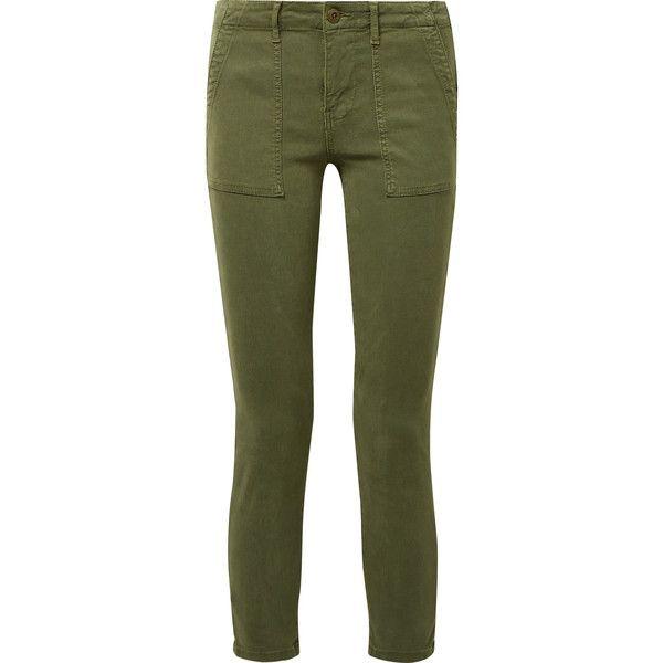 Les Armées Skinny Pantalon Twill Brossé - Vert Armée Le Grand. 2O3IM