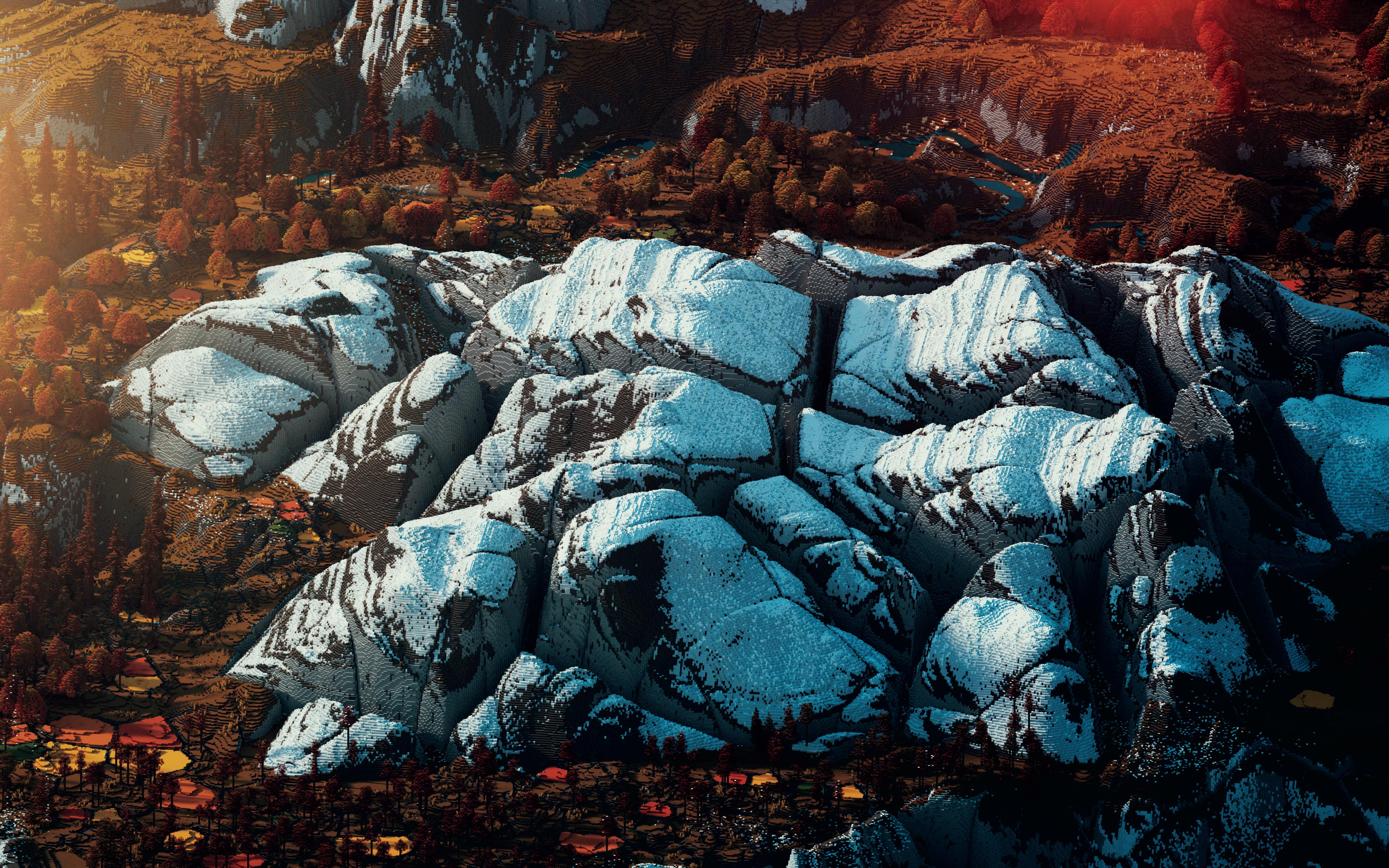 Andrzej Czerniewski's Iaven – Magic of Colors (2014) - one builder. 7 billion blocks. 22 days. Beautiful Minecraft