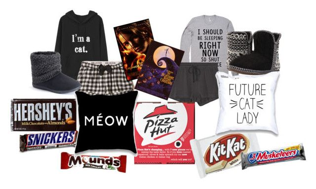 """""""Sleepover!"""" by pipes29 on Polyvore featuring Hollister Co., Skin, SONOMA Goods for Life and Foamtreads"""