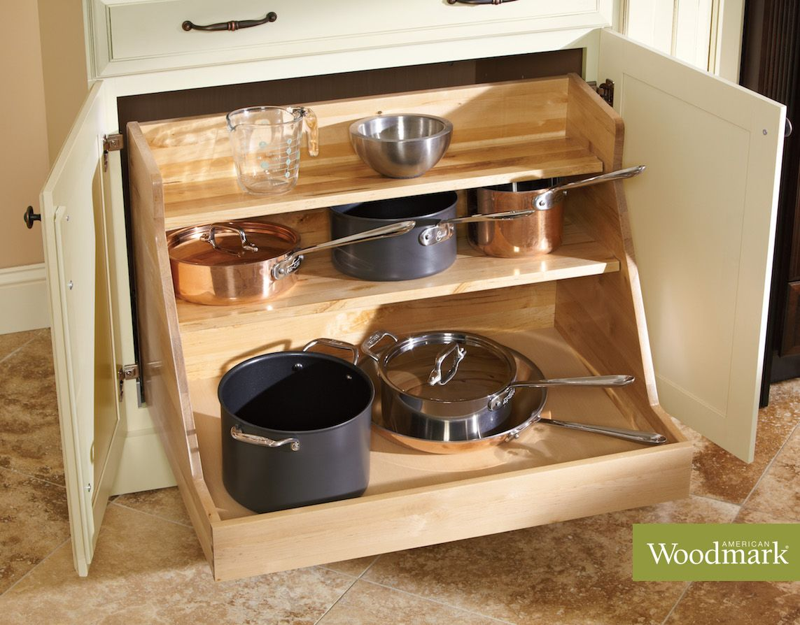 The Base Pot And Pan Pull Out Stores All Of Your Large Pans With