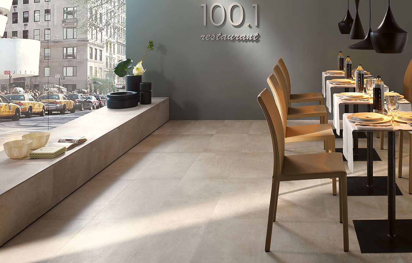 Flaviker #urban concrete greige 60x60 cm uc6030 #gres #pietra