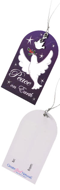 Peace Dove Gift Tags - Set of 3 at The Animal Rescue Site LOVE THIS!