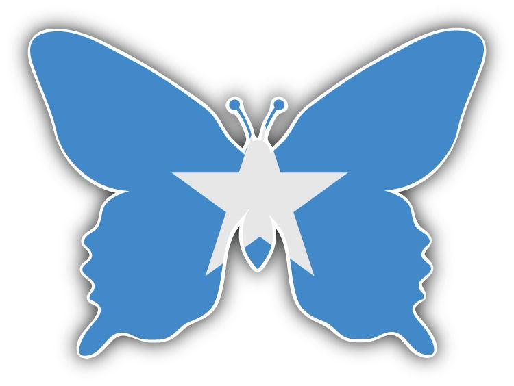 Somalia Flag Butterfly Car Bumper Sticker Decal 5/'/' x 4/'/'