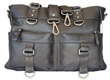 Audrey-Lu Gun Metal Grey Luxury Leather Camera Bag