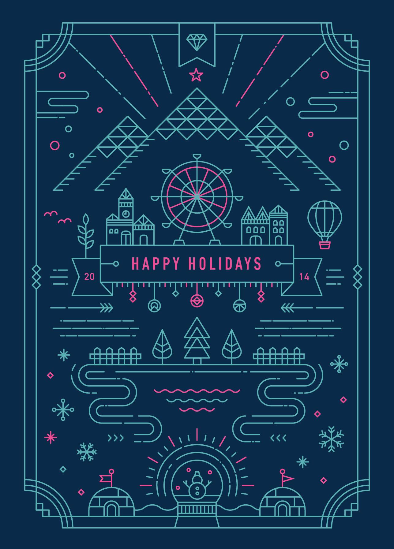 Yiwen_lu-holiday_card-2014-cover | Illustration | Pinterest ...