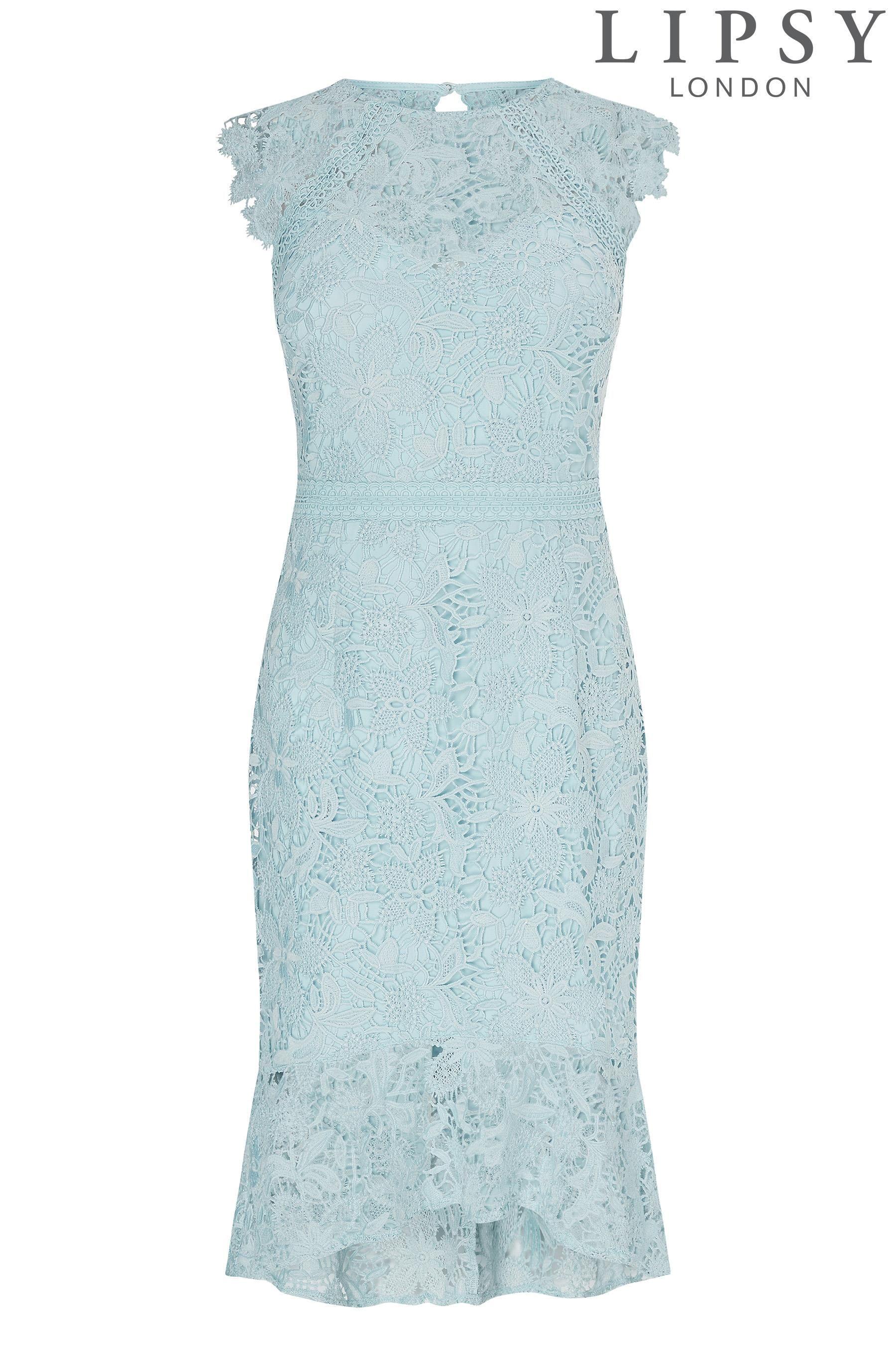 Buy Lipsy Loves Kate Lace Flip Hem Midi Dress from Next Canada ...