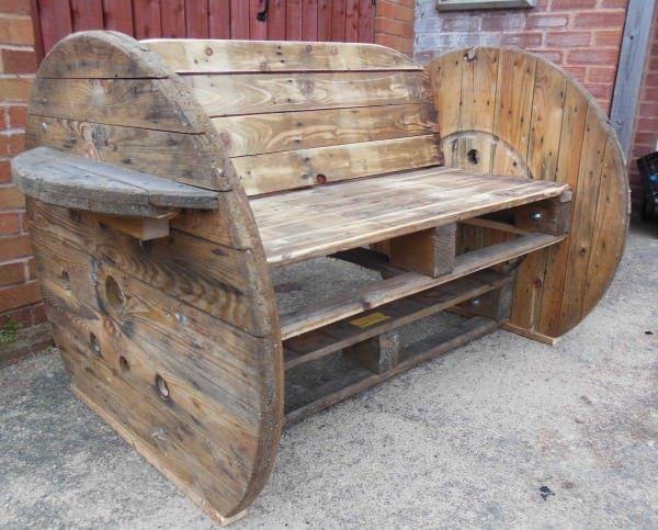 Sedie Pallet ~ Pallet cable drum benches u pallet ideas sedie batteria e pallet