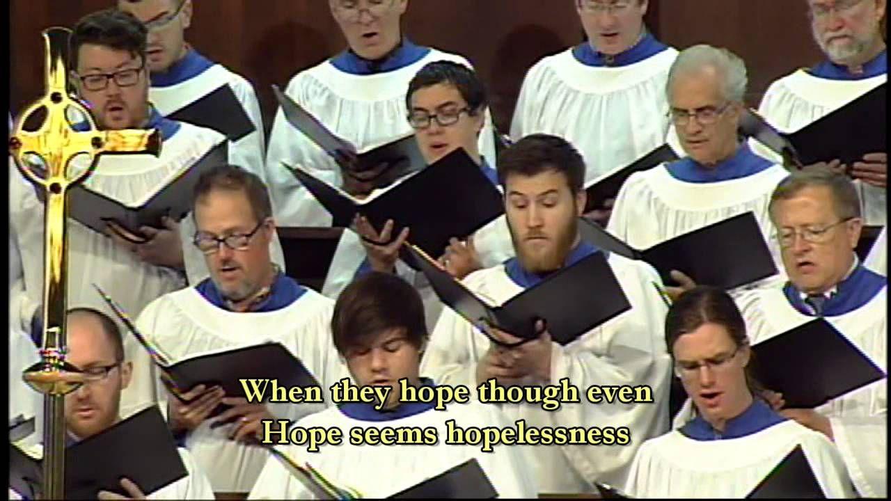 """""""When the Poor Ones"""" CUANDO EL POBRE Hymn, Choir, Poor"""