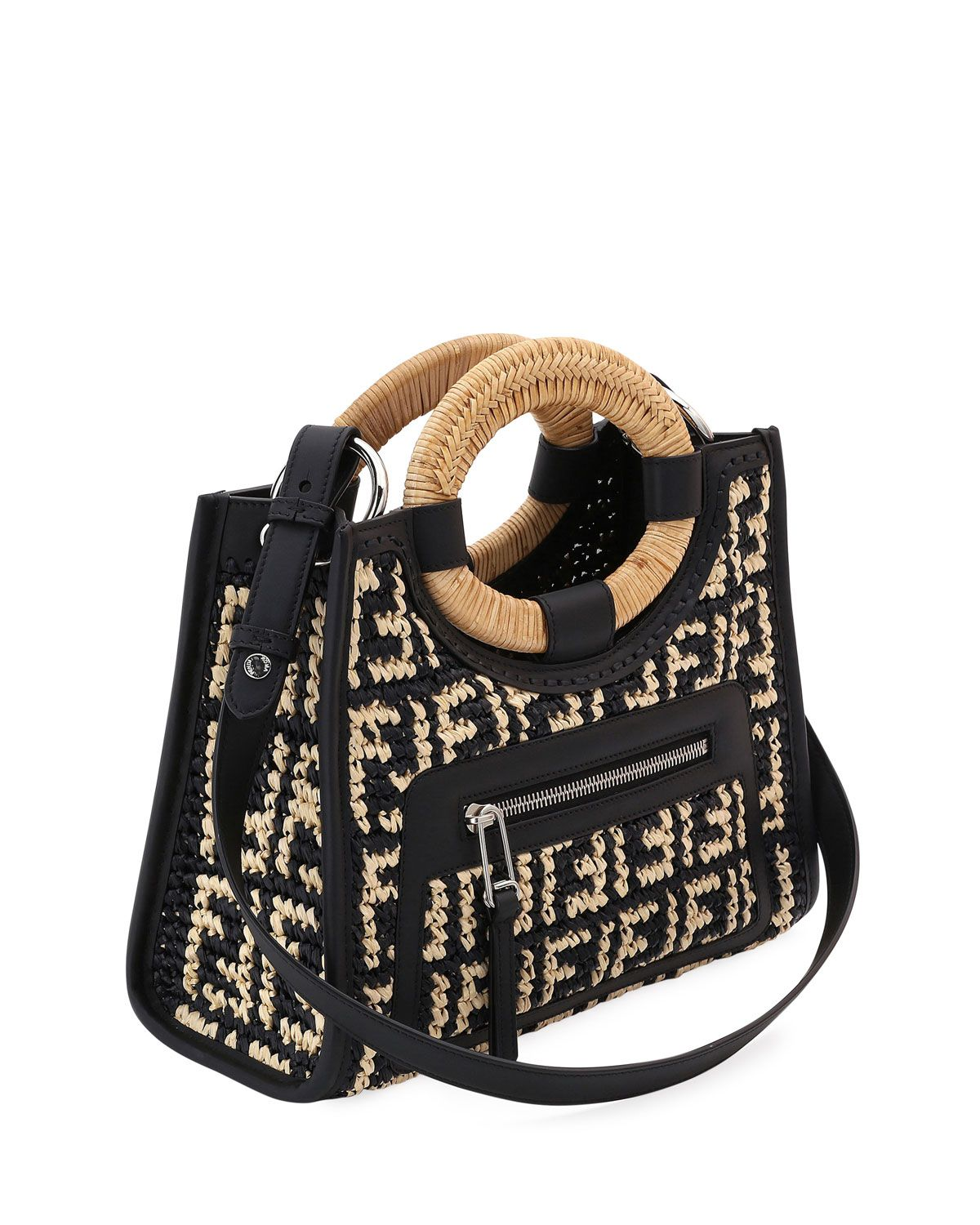 333c04c80 Fendi Runaway Small FF Raffia Shop Tote Bag in 2019 | s t y l e ...