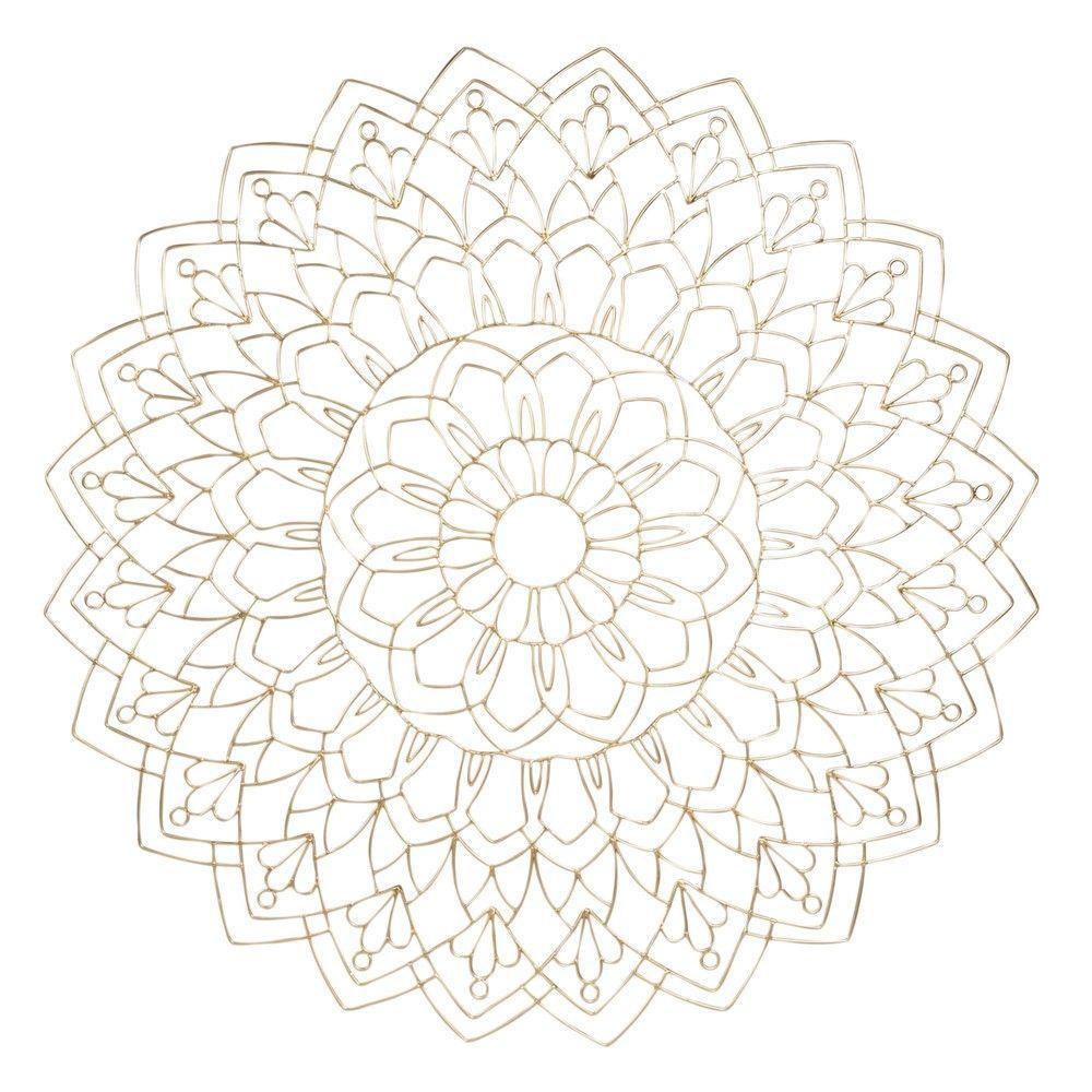 Déco murale mandala en fil de métal doré D80 | Maisons du Monde