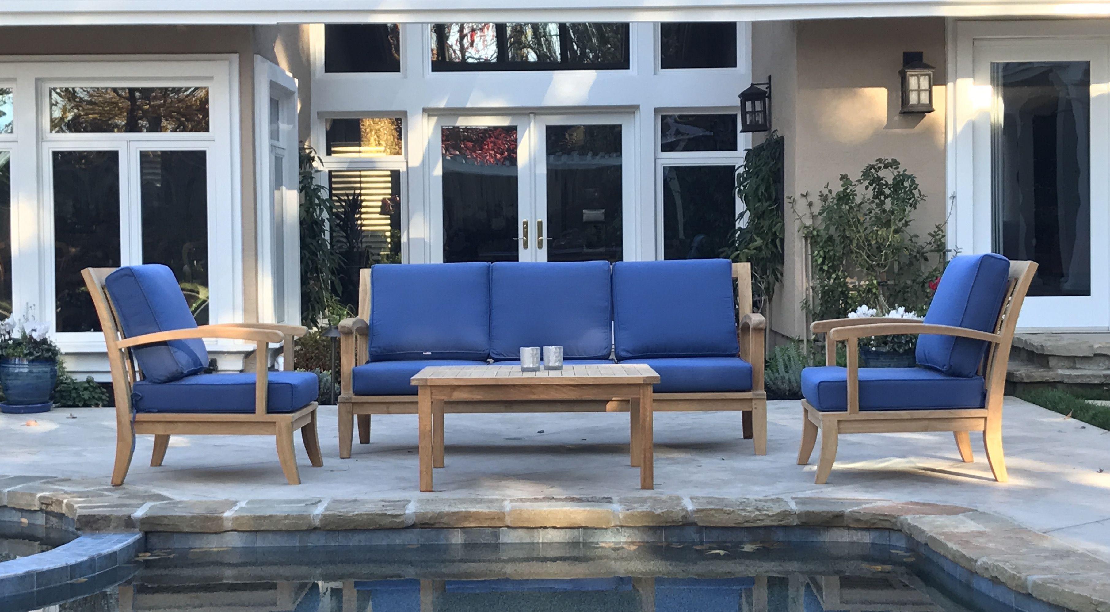 Teak deep seating club chair sofa | Teak deep seating | Pinterest | Teak