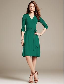 Gemma Wrap Dress Banana Republic