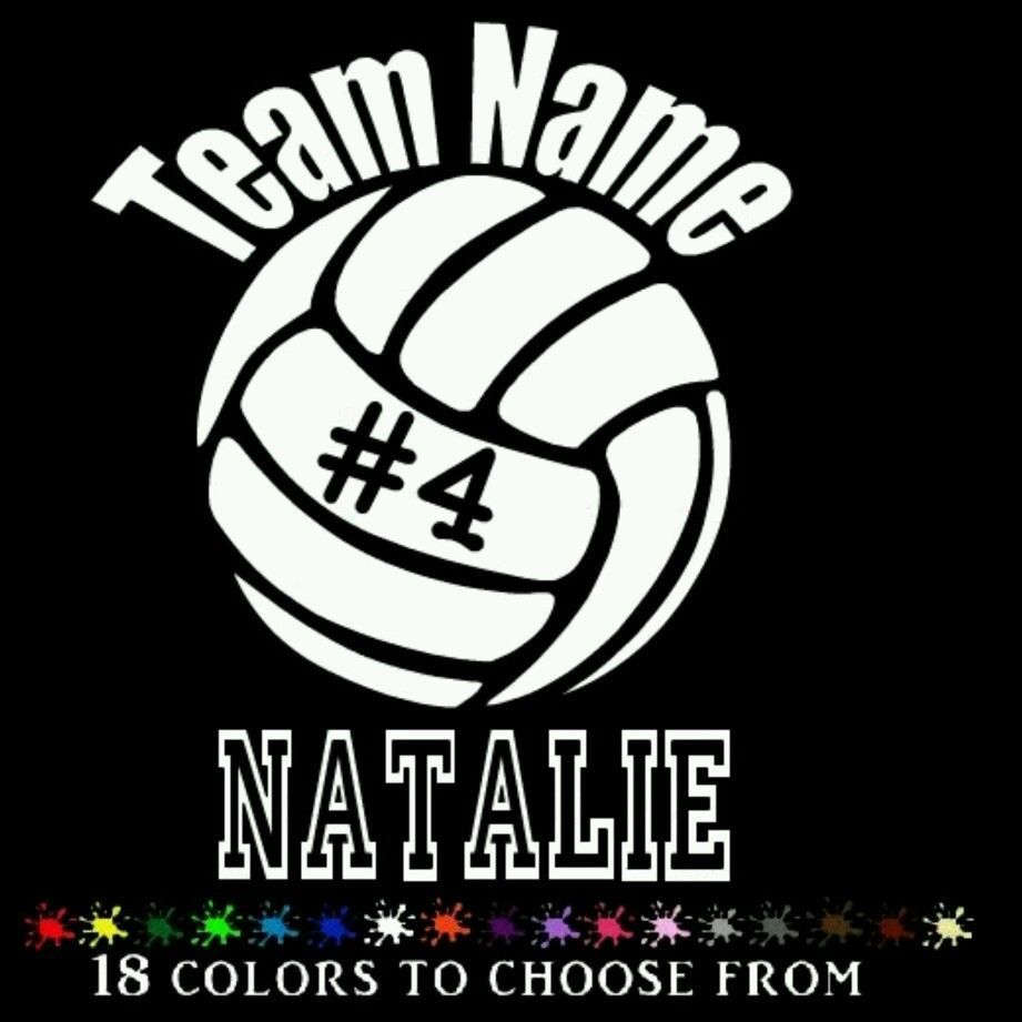 Volleyball Personalized Car Decal Vinyl Stickers Car 6 Ebay Car Personalization Car Decals Vinyl Car Decals