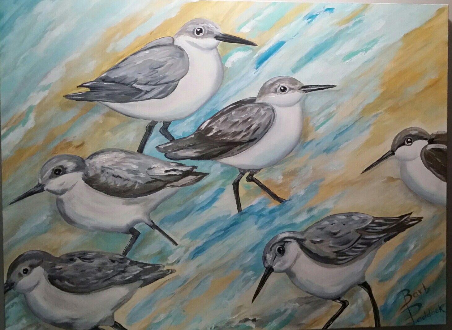 Barbara Paddack Art,  birds on the coast