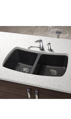 Astracast Malham Double Bowl Granite ROK® Composite Undermount Sink U0026 Waste  Kit   828 X