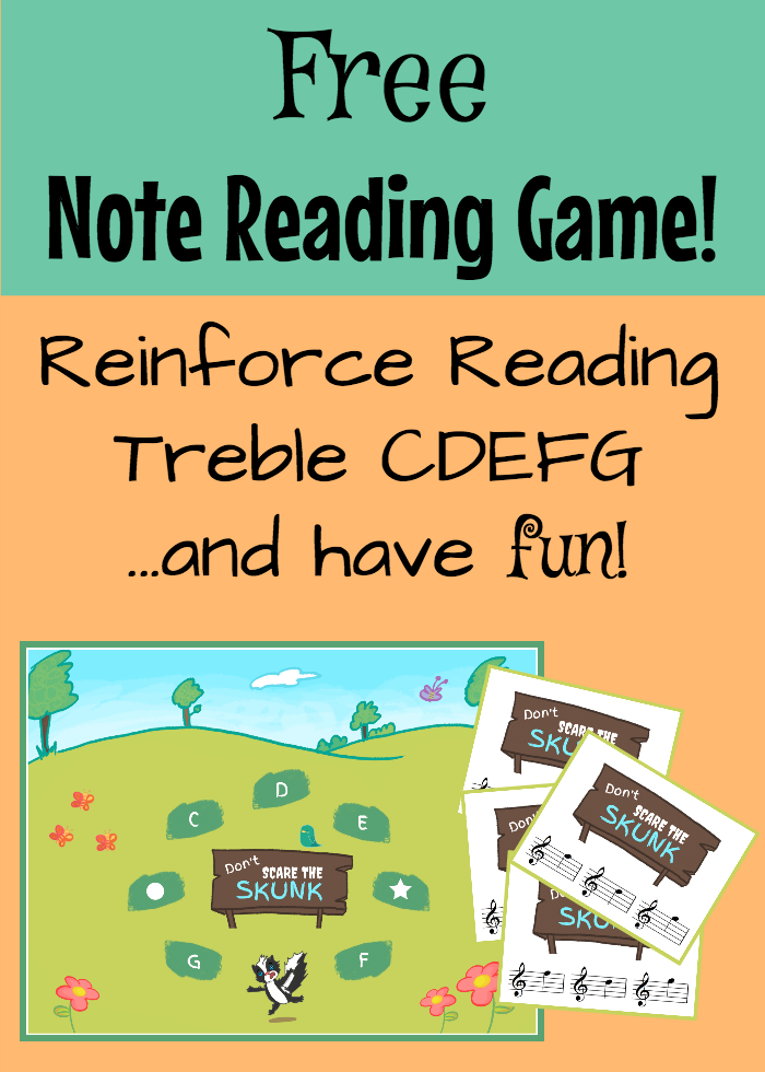 A Printable Piano Game To Reinforce Note Reading In Treble