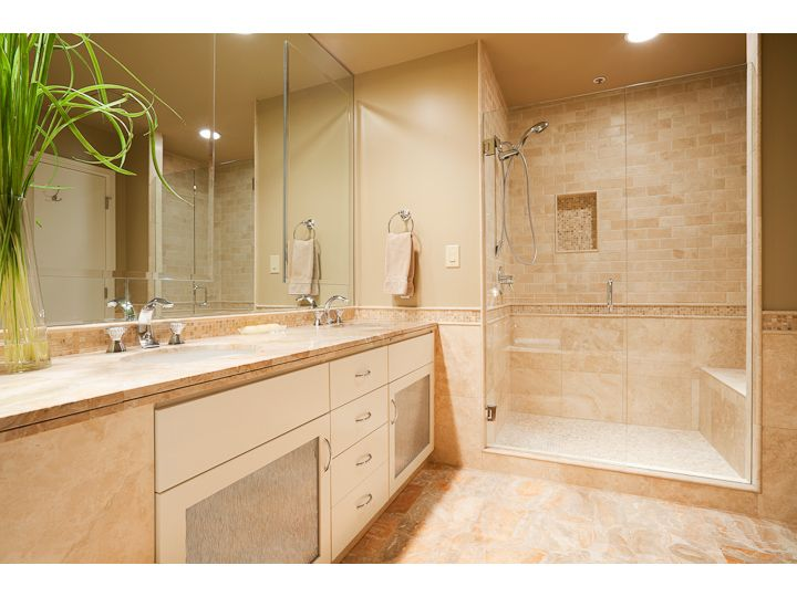 Remodeled Master Bathroom And New Larger Tiled Shower With Seat Delectable Bathroom Remodel Portland Set
