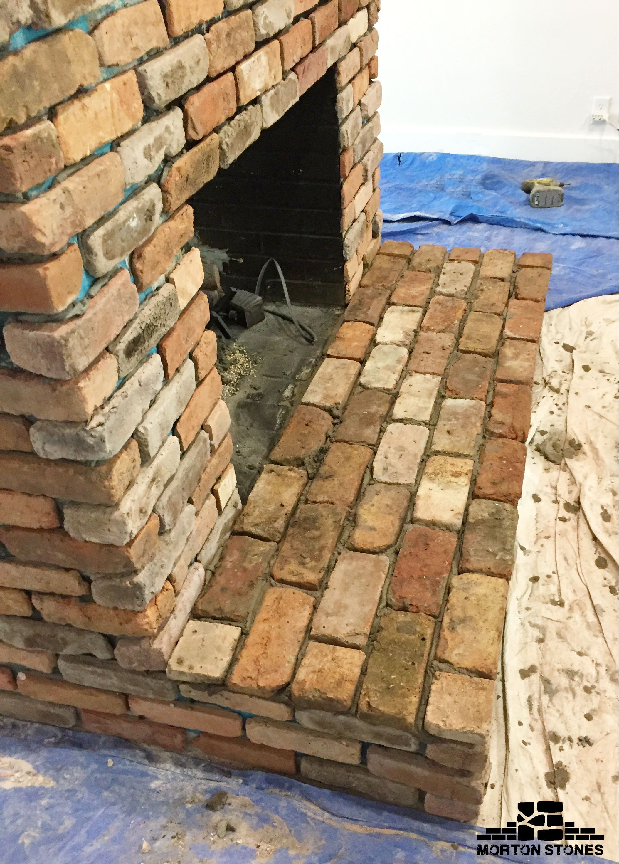 Installing brick veneer on a fireplace mortonstones brick tiles