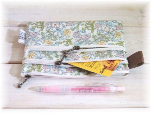 あぁっ ハンドメイド ラヴ 無料型紙製図 3ファスナーポーチ ラミネート の作り方 ハンドメイド ポーチ 型紙 手提げ袋 手作り
