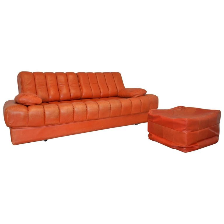 Superb De Sede Vintage Ds 85 Sofa Loveseat 1960S Swiss Mid Uwap Interior Chair Design Uwaporg