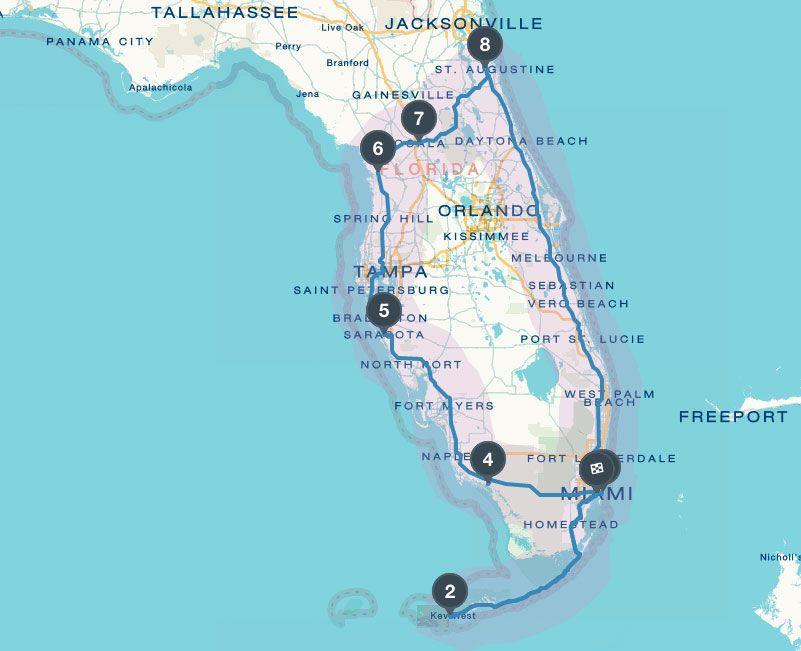 florida reisebericht tipps route f r 2 wochen mit auto miami pinterest florida florida. Black Bedroom Furniture Sets. Home Design Ideas