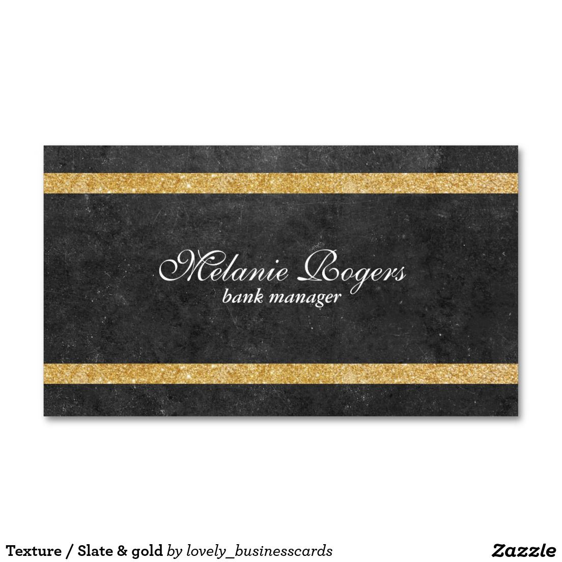Texture / Slate & gold Standard Business Card #luxury #gold #slate ...