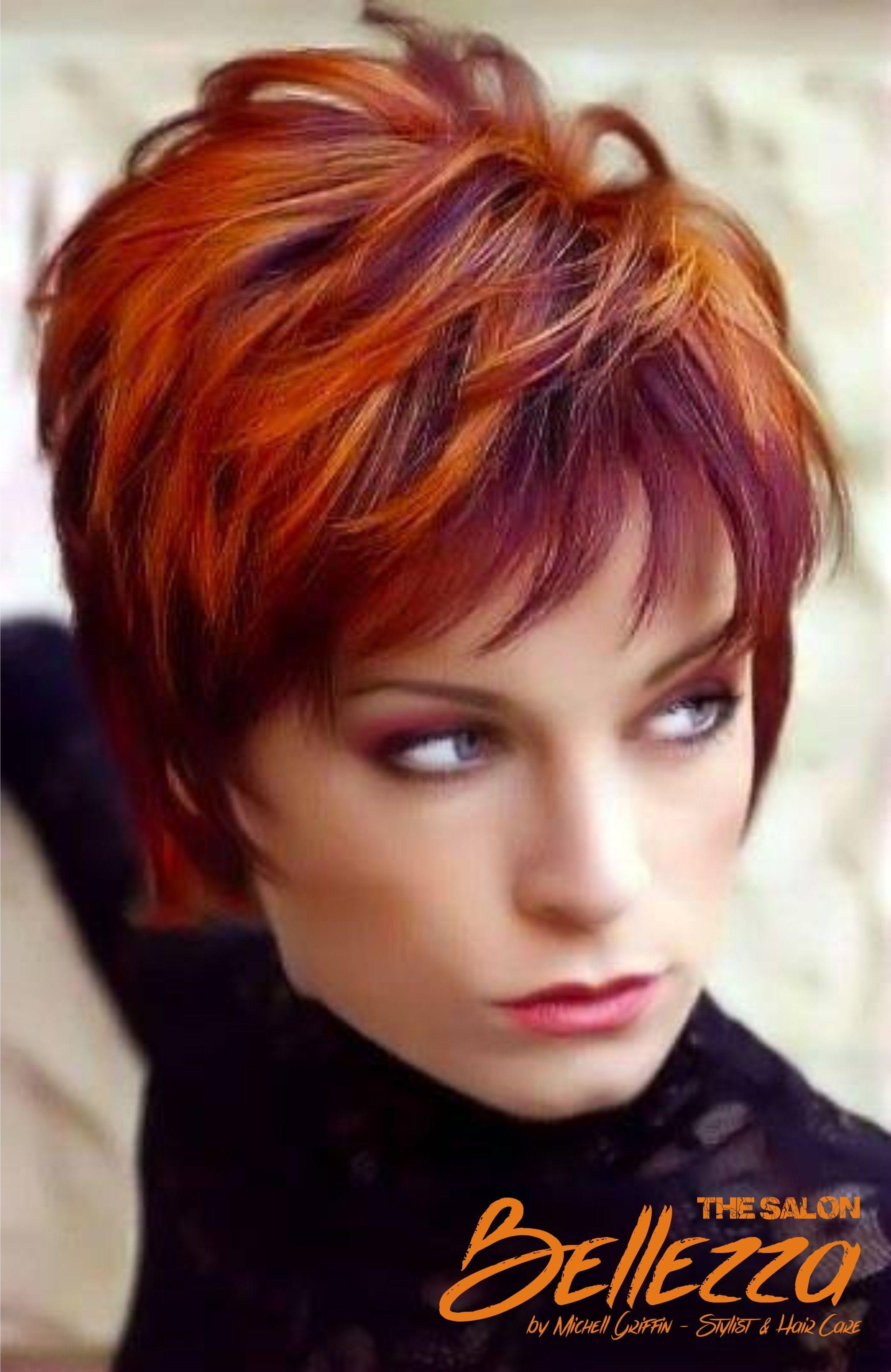 Burgundy shorthairgurlz pinterest hair style short hair and