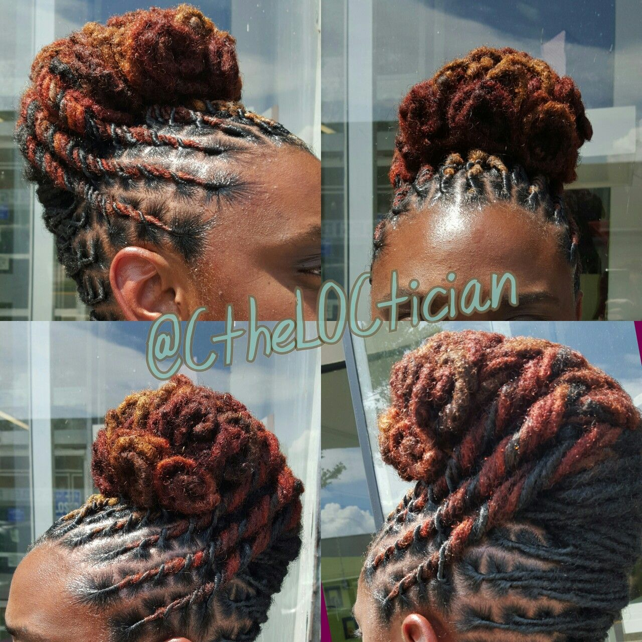 Locs, locs with color, ombre, wedding hair, loc styles ...