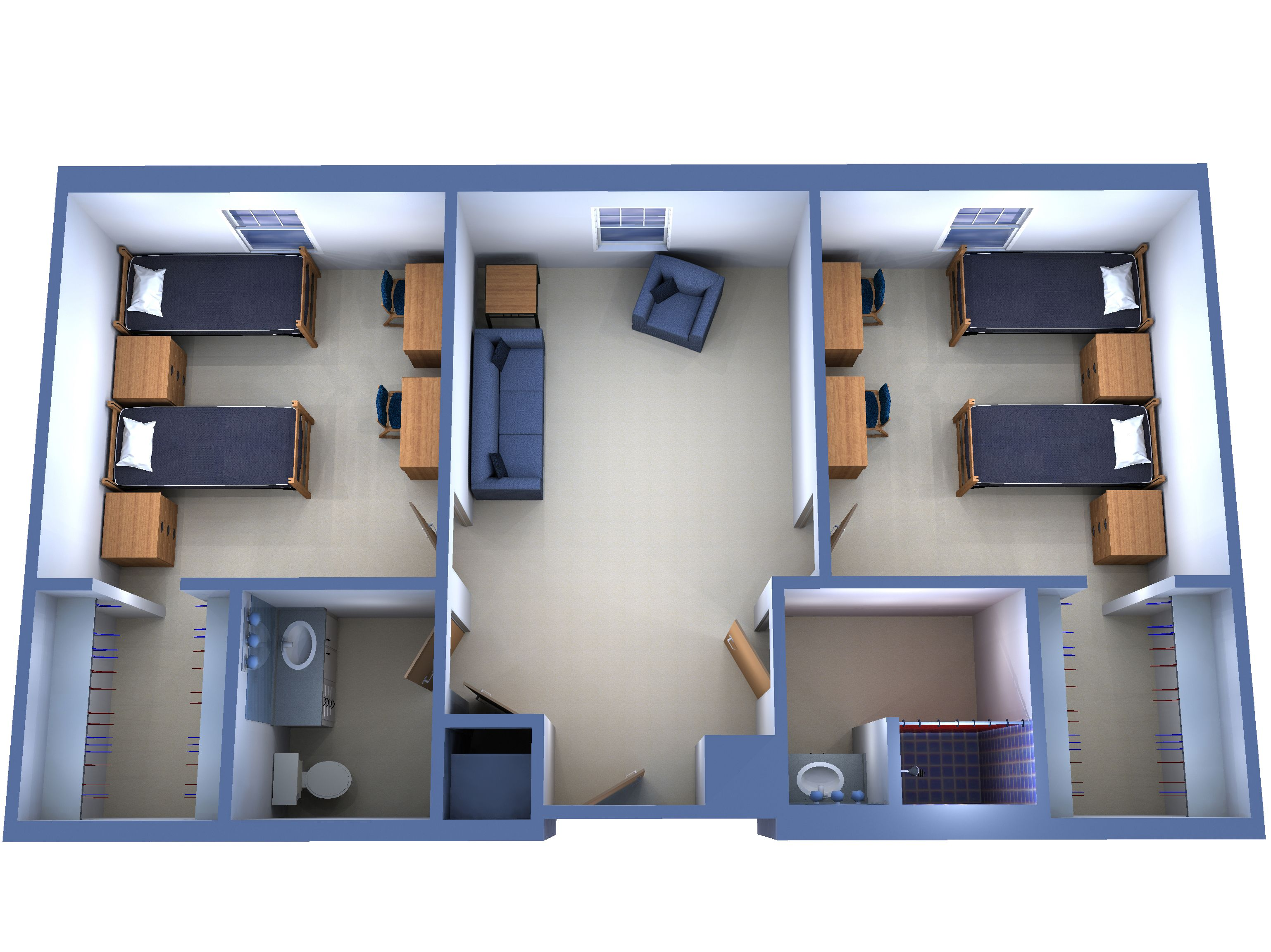 Suite With 2 Double Rooms College Pinterest Double