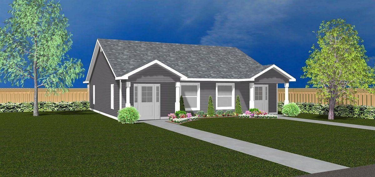 Duplex house plan J082217d (With images) Duplex house