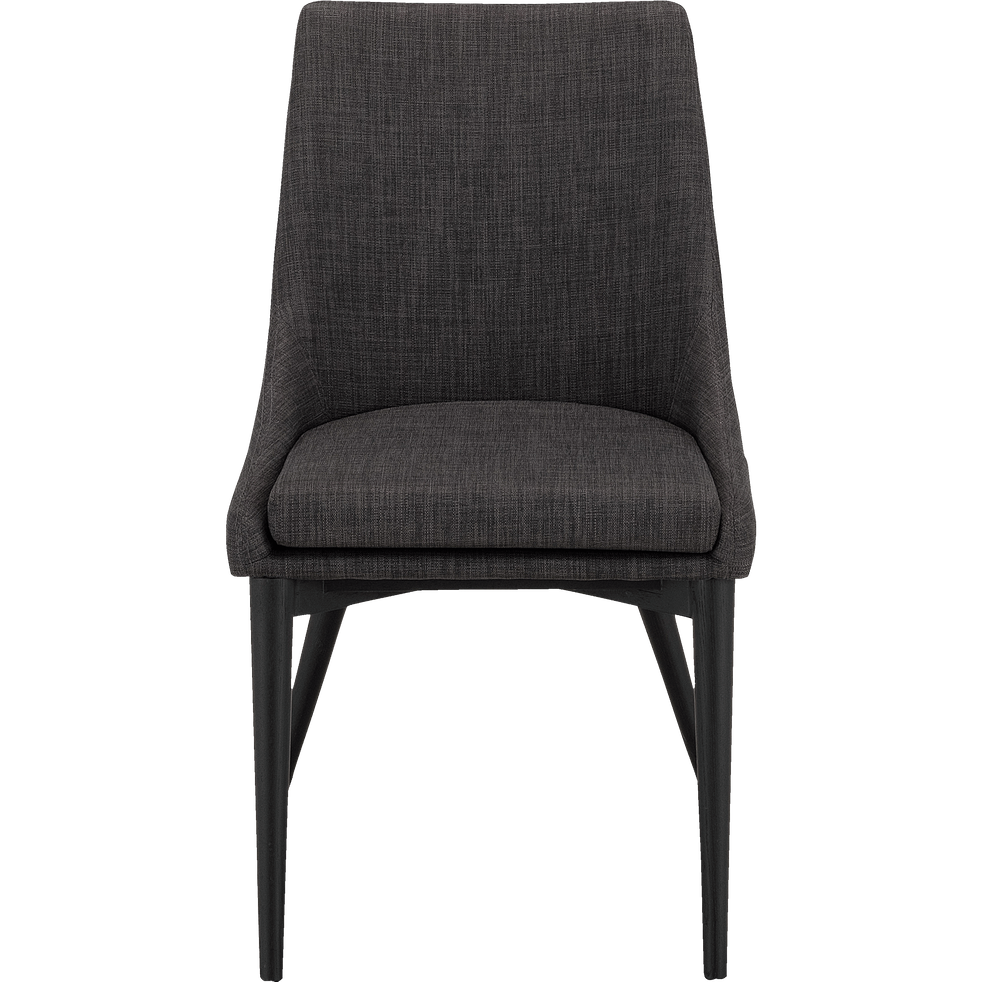 Chaise En Tissu Vert Cedre Pieds Noirs Abby Chaises Alinea Accent Chairs Chair Furniture