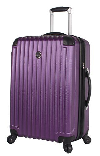 cc646ec4e Lucas Outlander Large Hard Case 28 inch Expandable Rolling Suitcase With Spinner  Wheels (One Size, Purple)