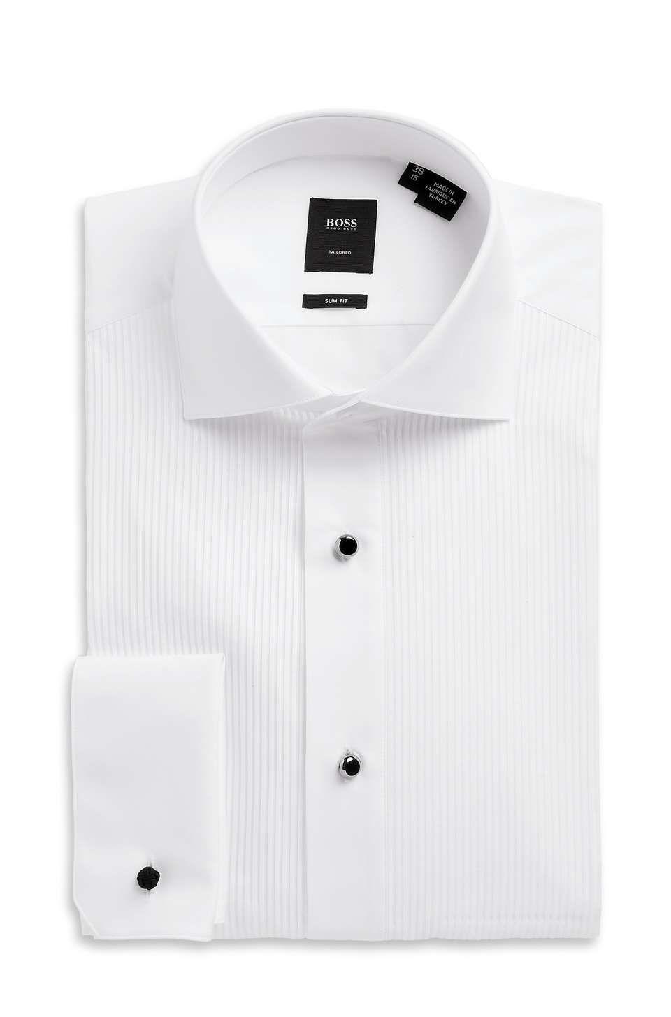 ec789274d27e Hugo Boss 'Valeriano' Tailored Slim Fit, Spread Collar Two-Ply Italian  Cotton Tuxedo Shirt