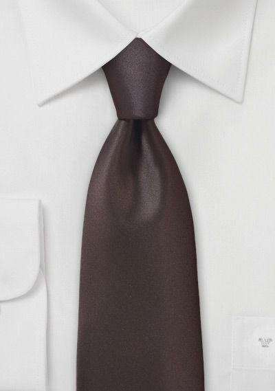 Krawatte monochrom Kunstfaser braunrot