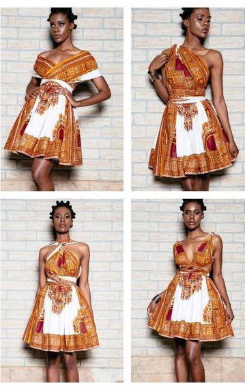 Dashiki mini infinity dress. Ankara | Dutch wax | Kente | Kitenge | Dashiki | African print bomber jacket | African fashion | Ankara bomber jacket | African prints | Nigerian style | Ghanaian fashion | Senegal fashion | Kenya fashion | Nigerian fashion | Ankara crop top (affiliate)