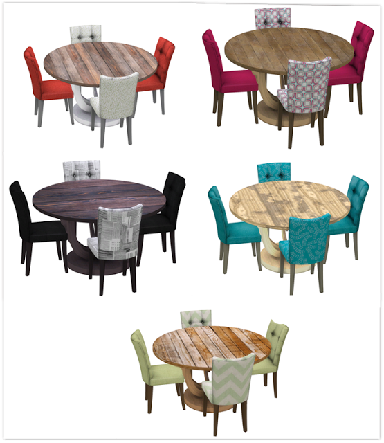 Sims 4 CCu0027s   The Best: Round Table Dining By 13 Pumpkinu0027s Simblr