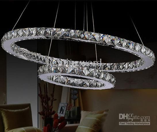 New modern fashion foyer galaxy k9 crystal led pendant light new modern fashion foyer galaxy k9 crystal led pendant light chandelier living room light two rings d700mm with d500mm chandelier design star chandelier aloadofball Choice Image