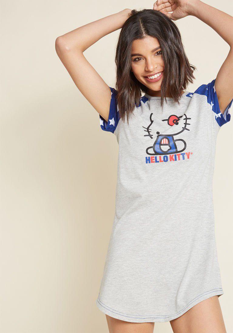 d380061a5 Disco Naps Hello Kitty Sleep Shirt   Products   Sleep shirt, Hello ...