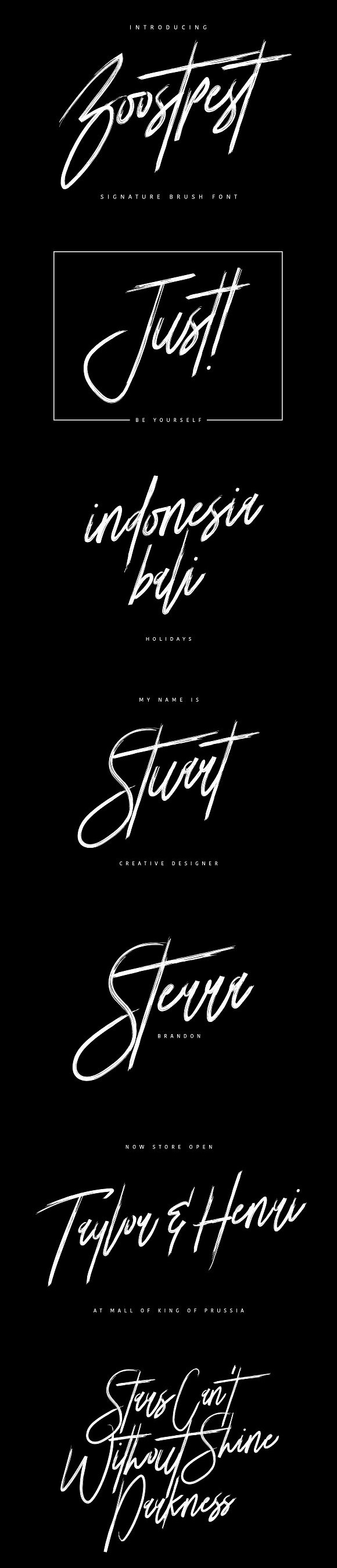 Boostpest Signature Brush Font Brush Font Signature Fonts Cool