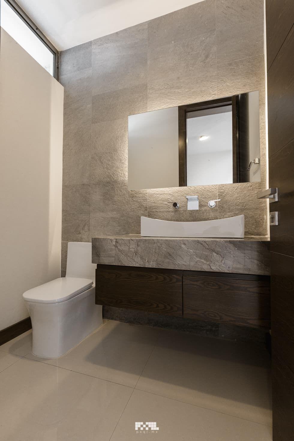Virreyes 15 ba os de estilo por 2m arquitectura en 2019 for Muebles de bano de diseno modernos