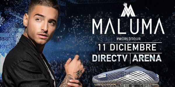 #Maluma Tres Estadios no fue suficiente! 11/12 DIRECTV Arena #MalumaWorldTour  El éxito de Maluma es impresionante: tras haber agotado tres Estadios Luna Park con meses de antelación a su llegada el Artista Colombiano que es furor en el mundo entero anunció su próxima presentación en Buenos Aires en el marco del #MalumaWorldTour el 11 de Diciembre en el DIRECTV Arena. Las entradas estarán a la venta a partir del viernes 7/10 en TuEntrada.  Maluma deslumbró al público internacional con su…