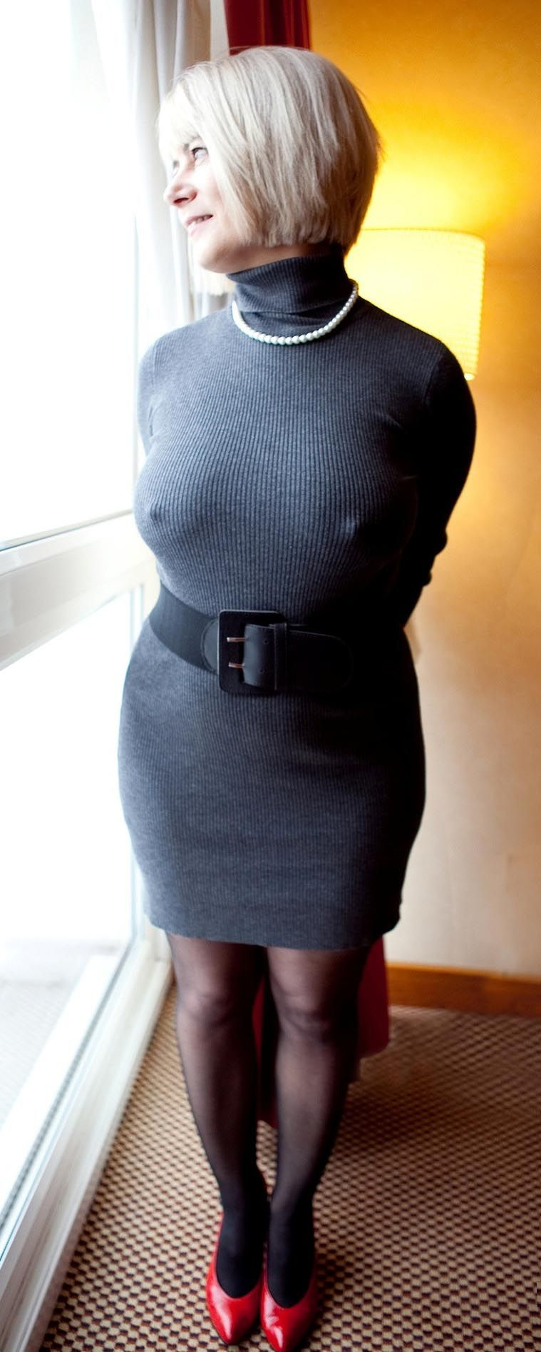 on dress mini milf knit sweater