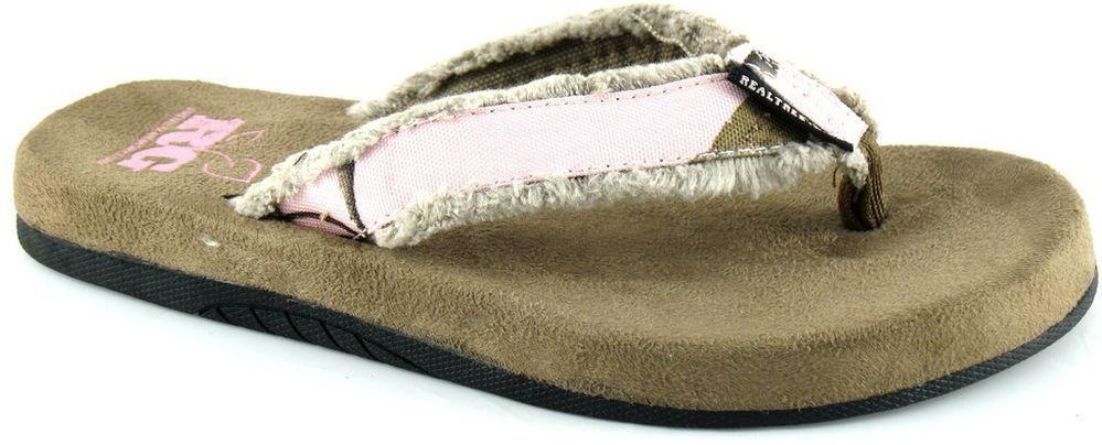 f621c80e32e7 Women s Realtree Girl Camo Ms Timber AP Pink Camo Flip Flop Thong Sandal  Shoe  RealtreeGirl  FlipFlops