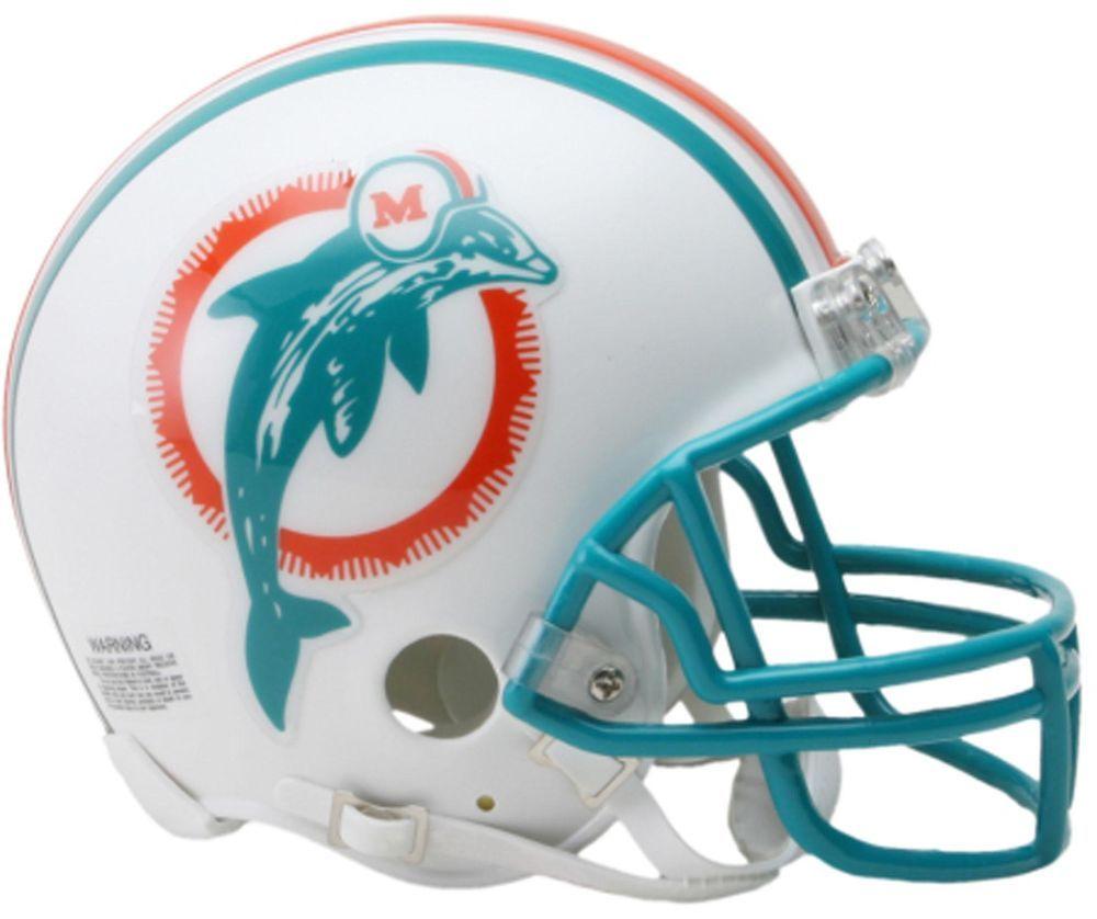 Riddell Miami Dolphins VSR4 80-96 Throw Back Mini Football Helmet - Fanatics dc2d7db9e