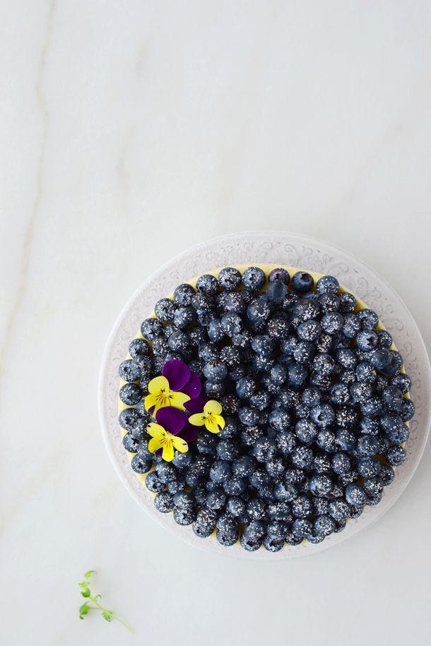 Merengue y frambuesa: Cheesecake de arándanos y naranja