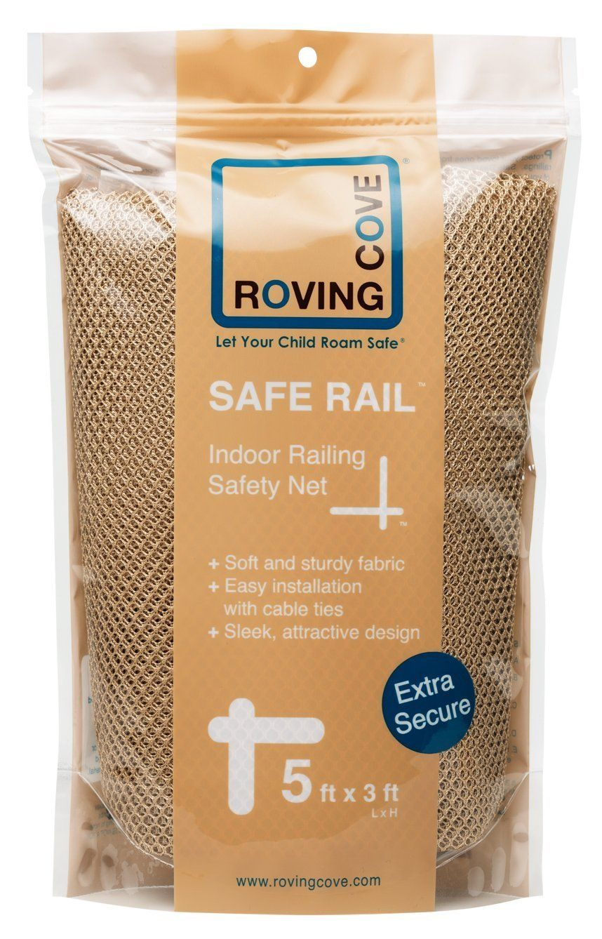 Roving Cove Safe Rail   5ft X 3ft   INDOOR Balcony And Stairway Railing  Safety Net