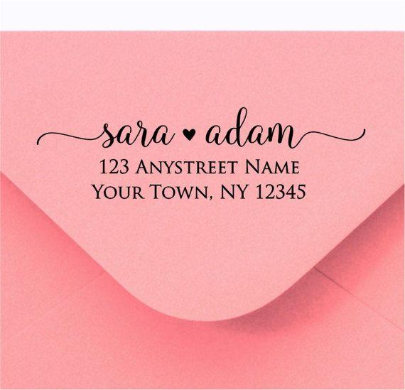 personalized self inking return address stamp self inking wedding